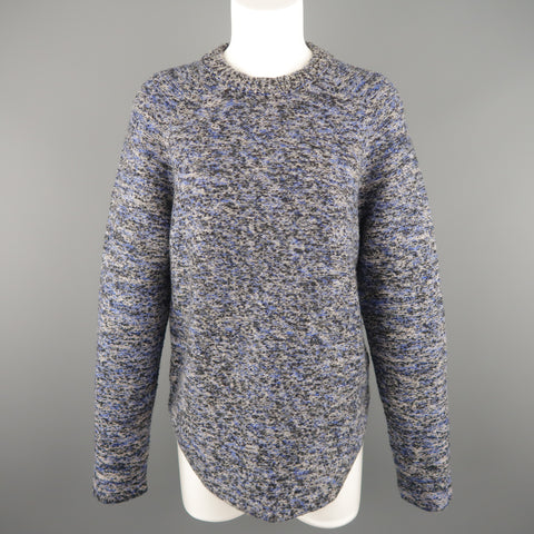 PROENZA SCHOULER Size XS Blue & Grey Heathered Marble Wool Blend Sweater