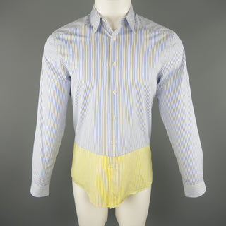 PS by PAUL SMITH Size S Blue & White Stripe Cotton Long Sleeve Shirt