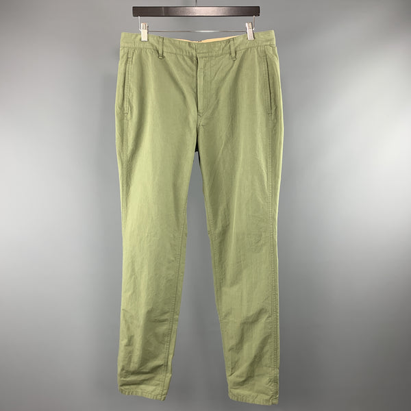 RAG & BONE Size 34 x 32 Olive Solid Cotton Zip Fly Casual Pants