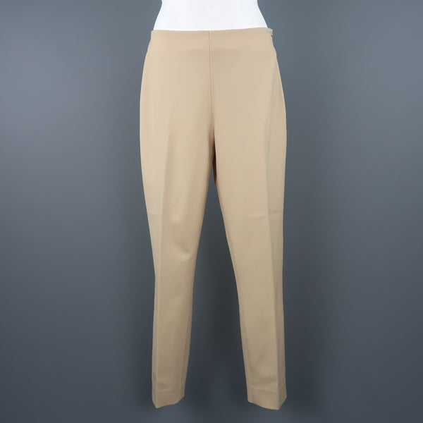 RALPH LAUREN Size 6 Tan Stretch Wool Skinny Dress Pants - Sui Generis Designer Consignment