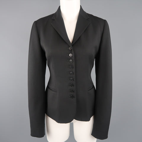 RALPH LAUREN Size 8 Black Notch Lapel 9 Button Sport Jacket