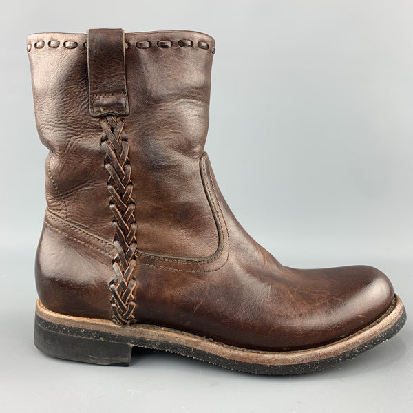 RALPH LAUREN Size 8 Brown Antique Leather Pull On Boots