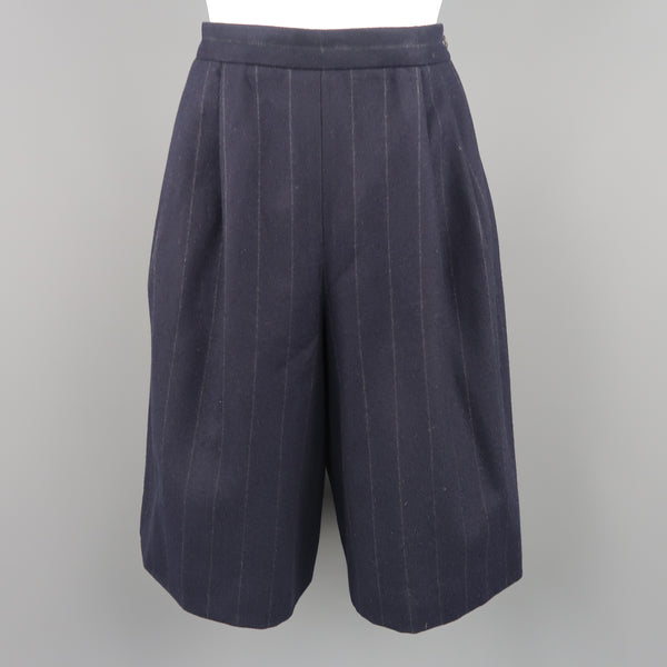 RALPH LAUREN Size 8 Navy Wool  Dress Short Pants - Sui Generis Designer Consignment