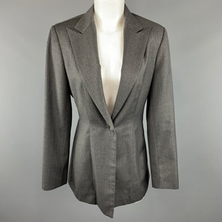 RICHARD TYLER Size 8 Grey Jacket / Blazer