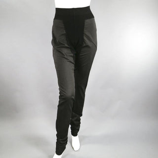 RICK OWENS Size M Black Cotton Panel Leggings - Sui Generis Designer Consignment