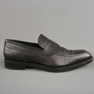 SALVATORE FERRAGAMO Size 10 Black Solid Leather Loafers