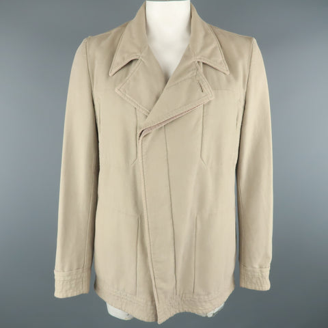 STEPHAN SCHNEIDER XL Khaki Cotton Hidden Buttons Peacoat