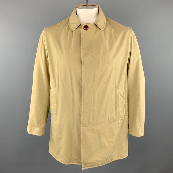 STEVEN ALAN M Khaki Cotton Hidden Buttons Coat