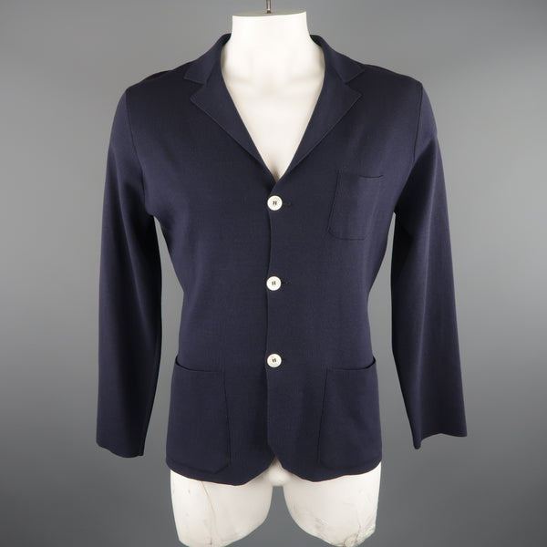 SVEVO PARMA 42 Navy Wool Three Button Resort Jacket