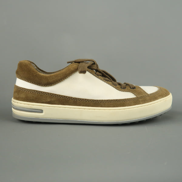 TOD'S Size 5.5 Brown & White Suede Lace Up Low Top T PROJECT Sneakers