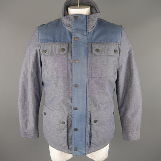 TOMMY HILFIGER M Blue Cotton / Linen Jacket