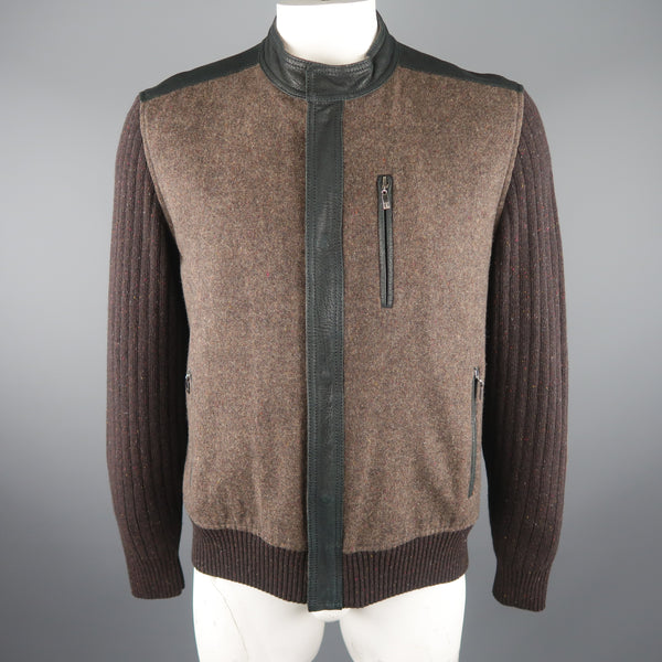 TORRAS 42 Brown Mixed Materials Wool Jacket