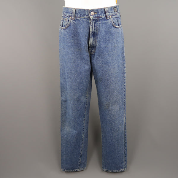 1c4db686 Home; Vintage VERSACE JEANS COUTURE Size 32 Medium Stone Wash Denim Jeans.  Click to Zoom