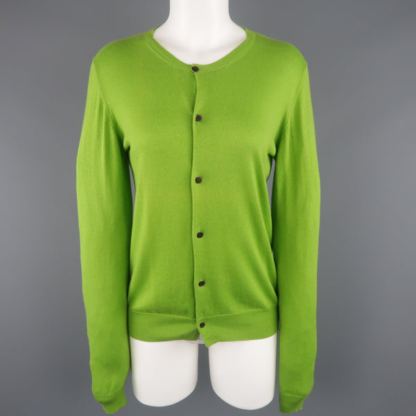 Y's by YOHJI YAMAMOTO Size M Green Cotton Blend Back Panel Cardigan