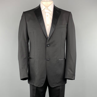 Z ZEGNA 44 Black Cotton / Rayon 36 x 34 Suit