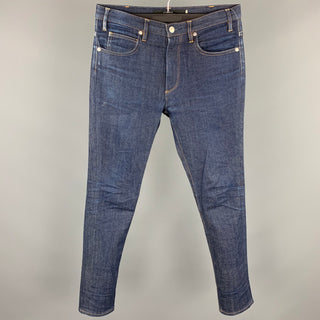 UNITED ARROWS Size 30 Indigo Contrast Stitch Denim Zip Fly Jeans