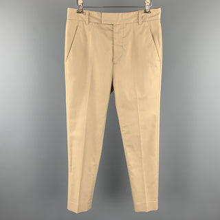 PHILLIP LIM Size 28 Khaki Cotton Blend Tab Front Casual Pants