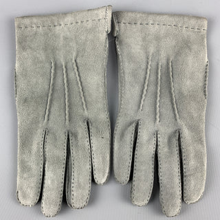 Vintage PAUL STUART Size S Gray Silk Suede Gloves