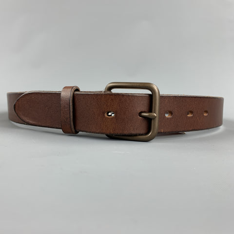 CIRCA Vacchetta Size 38 Brown Leather Belt