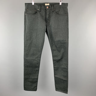SIMON MILLER Size 32 x 34 Charcoal Heather Cotton Button Fly Jeans