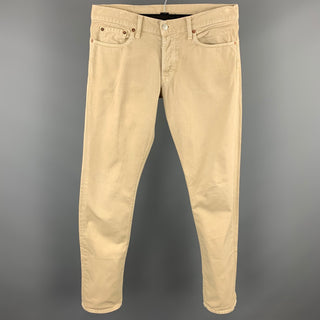 VINCE Size 31 Khaki Cotton Zip Fly Jeans