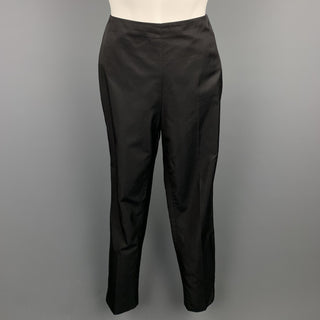 RALPH LAUREN COLLECTION Size 2 Black Silk / Cotton Dress Pants