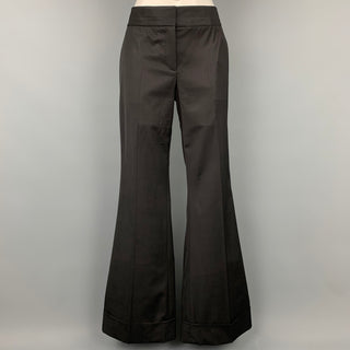 KAUFMAN FRANCO Size 10 Black Wool Wide Leg Dress Pants