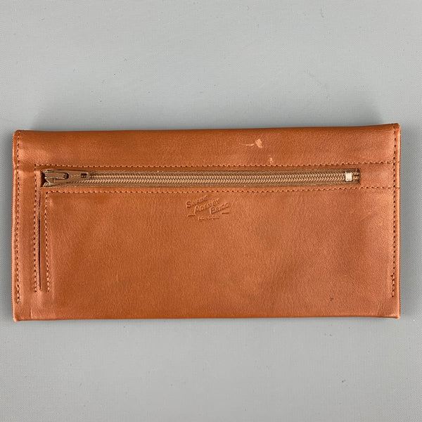 SWAINE ADENEY BRIGG Cognac Leather Rectangle Wallet