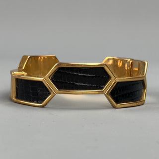 KARA ROSS Gold & Black Metal Magnetic Bracelet