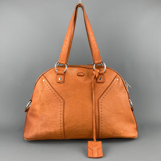 YSL Solid Burnt Orange Leather MUSE Tote Handbag