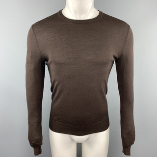 RALPH LAUREN Size S Dark Brown Merino Wool Crew-Neck Pullover