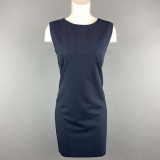 YVES SAINT LAURENT Vintage Size 6 Navy Virgin Wool Shift Dress