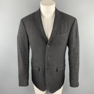 POLO by RALPH LAUREN Size 40 Charcoal Wool Notch Lapel Sport Coat