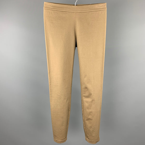 RALPH LAUREN Blue Label Size 2 Khaki Twill Cotton Leggings