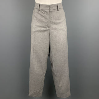 GIORGIO ARMANI Size 16 Grey Virgin Wool Blend Dress Pants