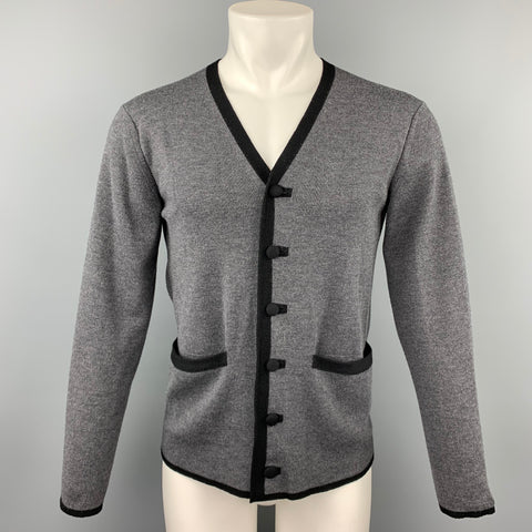 JUNYA WATANABE Size L Gray Knitted Wool Buttoned Cardigan