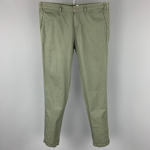 TOMAS MAIER Size 34 Olive Cotton Zip Fly Casual Pants