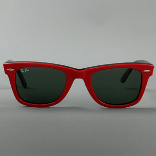 Vintage RAY-BAN Red Acetate Wayfarer Sunglasses