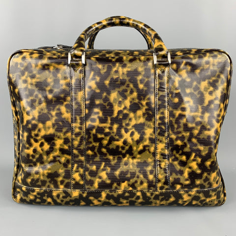 EMPORIO ARMANI Olive Camouflage Patent Leather Luggage / Briefcase
