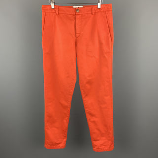 ANDREA CAMMAROSANO Size 32 x 31 Orange Cotton Casual Pants