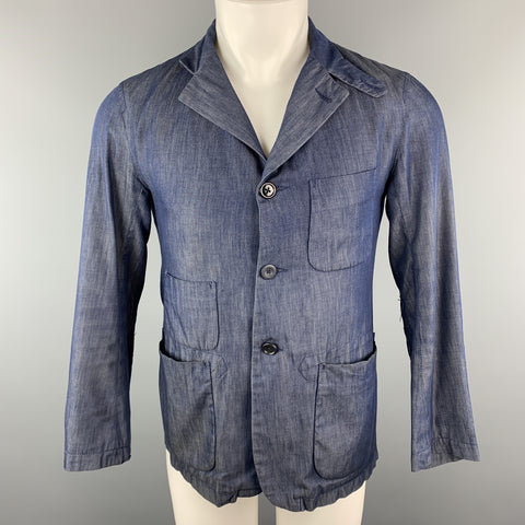 ENGINEERED GARMENTS Size XS Navy Cotton Buttoned Collar Patch Pockets Jacket