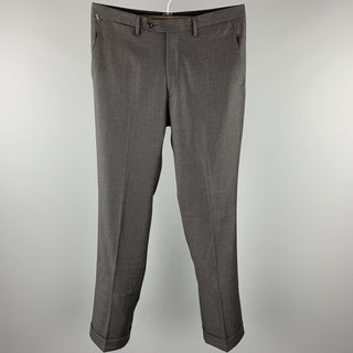 SARTORIA PARTENOPEA Size 32 Charcoal Wool Zip Fly Dress Pants