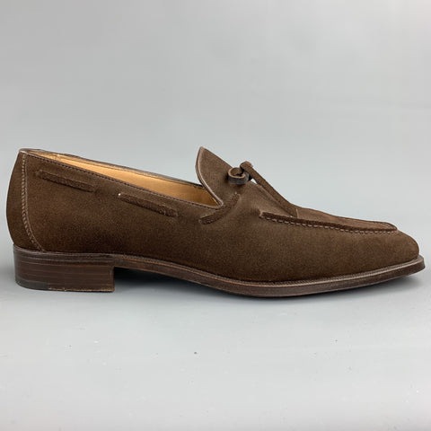 GRAVATI for WILKES BASHFORD Size 7.5 Brown Suede Slip On Loafers