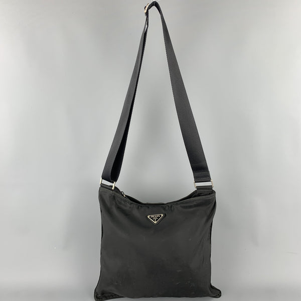 PRADA Black Nylon Cross Body Handbag