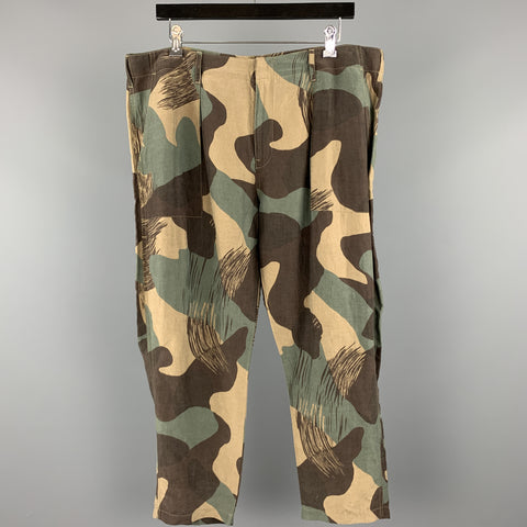 LEVI'S MADE & CRAFTED Size 32 Olive Camouflage Linen Casual Pants