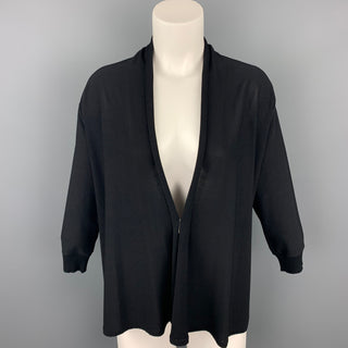 MAX MARA Size M Black Jersey Open Front Cardigan