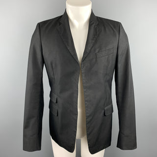 DSQUARED2 Chest Size 38 Black Studded Cotton / Polyamide Notch Lapel Sport Coat