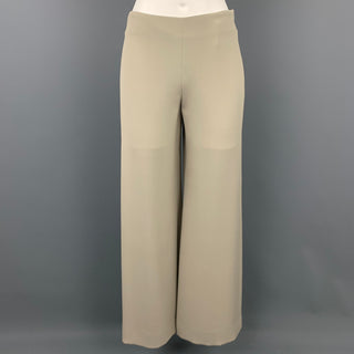 GIORGIO ARMANI Size 0 Grey Silk Wide Leg Dress Pants