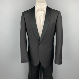 PAL ZILERI Cerimonia Size 40 Black Virgin Wool Shawl Collar Tuxedo