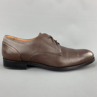 PAUL SMITH Size 9 Solid Brown Leather Lace Up Shoes